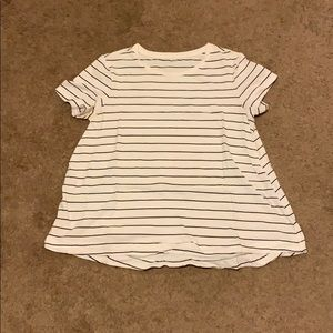 Old Navy Black and White Striped Shirt
